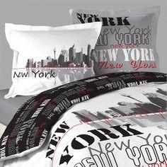 Housse de couette NEW YORK POST + 2 taies d'oreillers http://www.richandhome.com/housse-de-couette/167-new-york.html