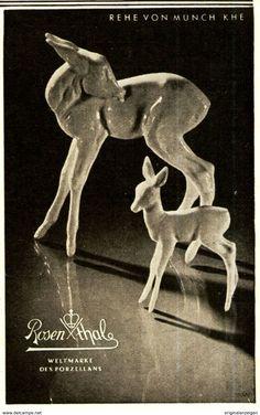 Original-Werbung/ Anzeige 1940 - REHE VON MÜNCH KHE / ROSENTHAL PORZELLAN - Ca. 65 X 110 Mm - Werbung