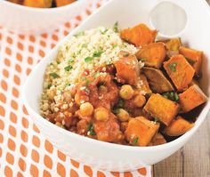 Vegetable Tikka Masala [Vegan, Gluten-Free] with sweet potatoes, chickpeas, and coconut milk by Brooke Griffin of Skinny Mom
