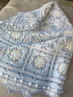 30-09-2016  Elle Babykins 4-ply yarn 3mm hook.   Colours used:   003 Peeka Blue 139 Splish Splash 049 Teddie 002 Ducky 001 Milk