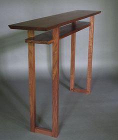 консольный столик дерево