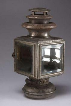 Lantern carriage lighting antique decor red by VintagebyViola