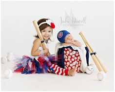 Baby Chicago Cubs Cap - Hat - Knitted / Crochet - Baby Gift / Newborn - Photo Photography Prop - Baseball - MLB