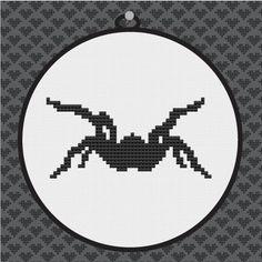 Spider Silhouette Cross Stitch PDF Pattern II