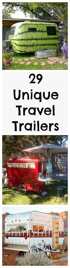 These travel trailers make us want to go on a summer vacation or road trip right now.