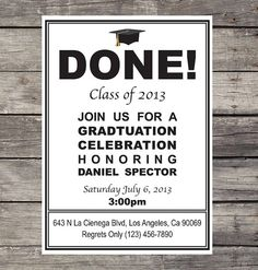 DIY Graduation Invitation by PRINTAGRAM on Etsy, $10.00