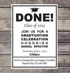 DIY Graduation Invitation by PRINTAGRAM on Etsy, $10.00