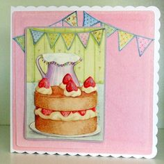 Any Occasion Card, Strawberries & cream £3.25