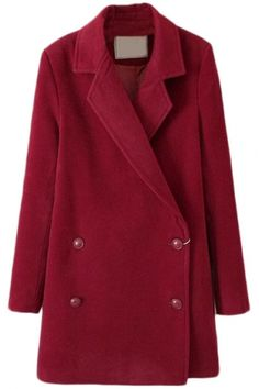Vintage Double Breasted Plain Woolen Long Coat #bhalo #beautifulhalo #fashion #michaelkors #h&m #outfit #dress #boots #jacket #denim #pants #jeans #sweater #sneakers #adidas #converse #prada #coat #bag #velvet #beanie #ugg #kimono #Chanel #GianvitoRossi #vintage #women's #clothing #fashion #women #female #woman #misses