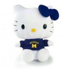 University of Michigan Hello Kitty!! #michigan #goblue