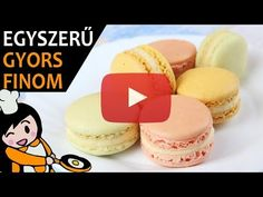 White Food Coloring, Macaron Recipe, Creamed Eggs, Complete Recipe, French Desserts, Tasty, Yummy Food, Food Videos, Recipe Videos