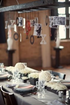 Very cute decorating idea! Reception, rehearsal dinner, etc<3