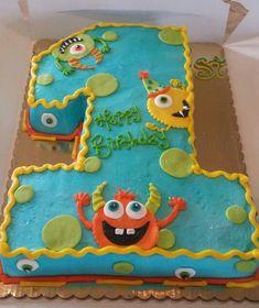 Baby First Birthday Cake Boy Shape 16 Ideas Monster Party, Monster Birthday Cakes, Little Monster Birthday, Monster 1st Birthdays, Monster Birthday Parties, First Birthdays, Boys First Birthday Party Ideas, Baby Boy 1st Birthday Party, 1st Birthday Themes