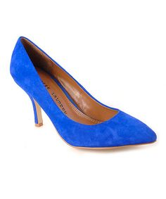 Take a look at this Cobalt Blue Suede Area Pump by Chinese Laundry on #zulily today!