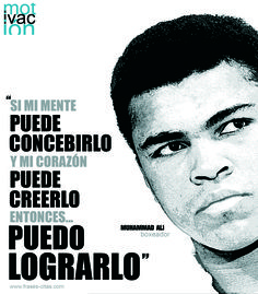Automotivación, por Muhammad Ali Ali Quotes, Best Quotes, General Quotes, Motivational Phrases, Color Psychology, Ways Of Seeing, Muhammad Ali, Spanish Quotes, Self Development