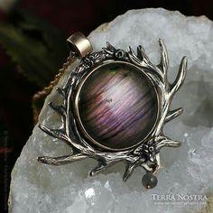 Deer pendant Pagan, Gemstone Rings, Brooch, Gemstones, Pendant, Deer, Jewelry, Art, Art Background