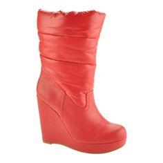 SALE - Womens Kensie Girl Melan Wedge Heels Red Nylon - Was $70.00 - SAVE $25.00. BUY Now - ONLY $45.00.