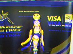 Female entertainer at Football world cup event www.streets-united.com