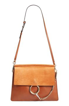 'Faye' Leather & Suede Bag