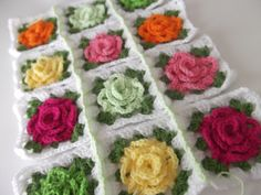 The granny rose square...can't wait to make an afghan with this pattern!
