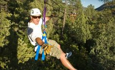 f386e9eca804 Groupon - Zipline Tour for One or Two from Full Blast Adventure Center in  Durango (