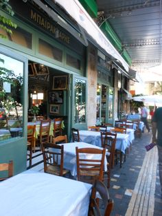 Delightful sidewalk cafes in Athens