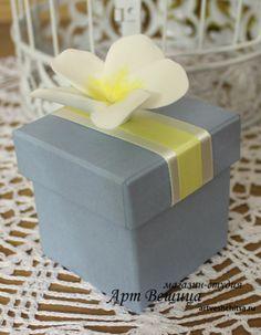 коробочка для подарка с плюмерией Clay, Deco, Clays, Decor, Deko, Decorating, Decoration, Modeling Dough