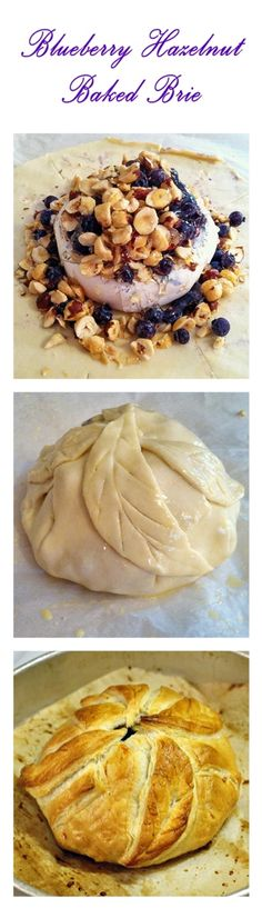 Blueberry Hazelnut Baked Brie - perfect for holiday entertaining, you can use any combination of favorite berries and nuts to create  impressive and delicious party food your guests will rave about.