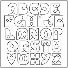 Alphabet font to use for Zentangle strings - what a great idea! Doodle Lettering, Creative Lettering, Lettering Styles, Calligraphy Letters, Typography Letters, Font Alphabet, Alphabet Design, Fancy Writing Alphabet, Fancy Lettering Alphabet
