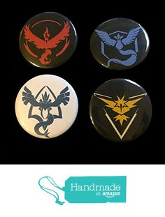 Pokemon GO Teams 1.5 Inch Button Set of 4 from Epic Geek