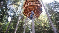 green design, eco design, sustainable design, Ethan Schussler, bicycle elevator, pedal powered elevator, treehouse elevator