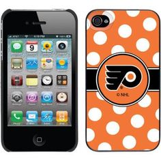 Philadelphia Flyers Polka Dots Design on Apple iPhone 4/4s Thinshield Snap-On Case by Coveroo