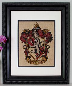 Gryffindor Crest - Harry Potter Wall Art, Burlap Wall Art, Color Wall Art - lmfao tips