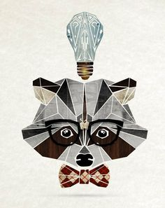 """Hipster Animals"" – Geometric Illustrations Inspired by Tangram Puzzles Animal Paintings, Animal Drawings, Animal Illustrations, Nerd Kunst, Nerd Art, Arte Pop, Animal Design, Geometric Shapes, Geometric Animal"