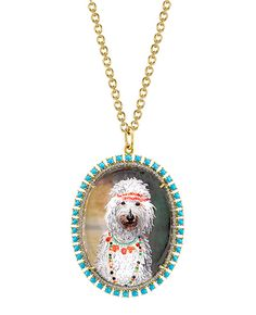 #RocksMyWorld: Lena Dunham's Top Dog Pendant from Irene Neuwirth's New Collection from InStyle.com