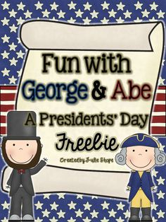 Fun With George & Abe {A Presidents' Day Freebie} by Julie Shope Kindergarten Social Studies, Social Studies Activities, Kindergarten Science, Teaching Social Studies, Student Teaching, Teaching Ideas, Teaching Strategies, Groundhog Day, Holiday Activities