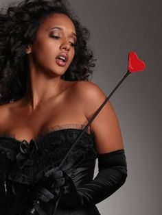 Love Hurts Leather Heart Riding Crop