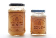 Packaging of the World: Creative Package Design Archive and Gallery: Really Raw Honey Concept Jar Packaging, Honey Packaging, Packaging Ideas, Design Packaging, Product Packaging, Honey Jar Labels, Honey Label, Honey Jars, Really Raw Honey