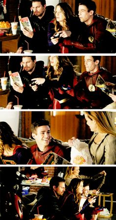 Behind the scenes of the Super Friends photoshoot! #Arrow #TheFlash #Supergirl #LegendsofTomorrow