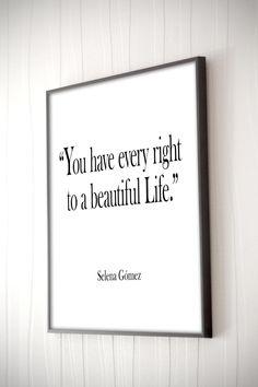 Selena Gomez song Lyrics Quote Inspirational Art Music Poster Song Quote Motivational Print Art Typography Gift Idea Printable Art