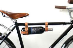 Bicycle Wine Rack  Leather Tan MultiSize van oopsmark op Etsy, $34.00
