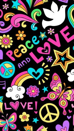 Peace And Love Wallpapers Top Free Hippie Wallpaper, Go Wallpaper, Heart Wallpaper, Cellphone Wallpaper, Galaxy Wallpaper, Pattern Wallpaper, Handy Iphone, Love Backgrounds, Happy Hippie