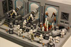 Lego Custom Clones, Lego Clones, Star Wars Clone Wars, Star Wars Art, Lego Star Wars, Lego Minifigure Display, Lego Fire, Lego Pictures, Lego People