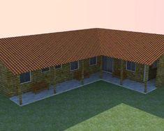 casa em L - Bing images Small House Design, High Quality Images, House Plans, Deck, Farmhouse, Architecture, Outdoor Decor, Home Decor, Erica