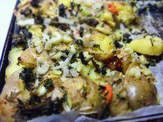 roti patate kale
