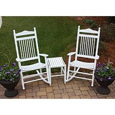 Dixie Seating 3 pc Spindle Rocking Chair Set with Side Table  * Click the swimwear for detailed description