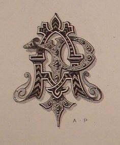 A + P / monogram Monogram Design, Monogram Logo, Monogram Letters, Graffiti Lettering, Hand Lettering, Design Art, Logo Design, Graphic Design, Calligraphy R