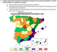 2007. Población extranjera por provincias en 2003.
