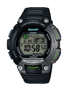 The Casio STB-1000 uses Bluetooth v4.0, with low-energy wireless technology, to enable wearers to check personal fitness data from popular mobile apps, operate a music player on a smartphone, and more.