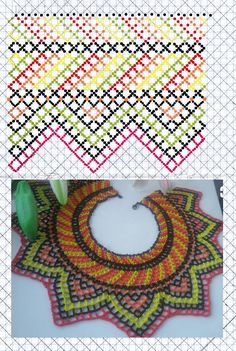 Beading Patterns Free, Beaded Jewelry Patterns, Free Pattern, Crochet Necklace, Beaded Necklace, Necklaces, Hand Art, Hand Painted Furniture, Arts And Crafts